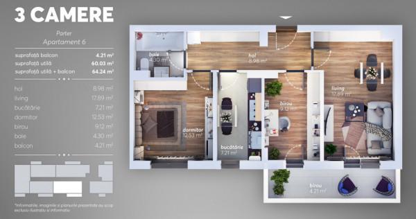 Apartament 3 camere Metalurgiei - Turnu Magurele