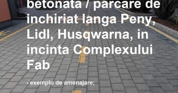 Platforma/parcare betonata de inchiriat 1000mp Nicolina