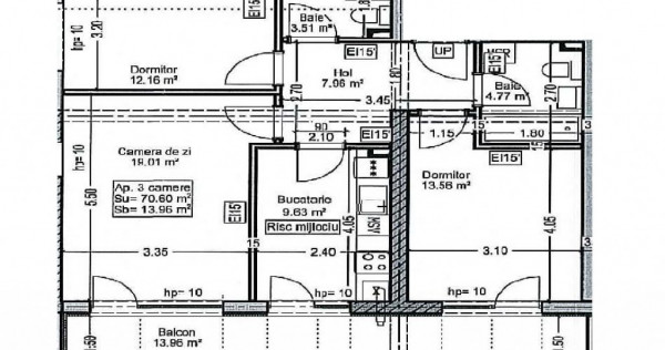 Apartament 3 camere Titan - Pallady - sector 3