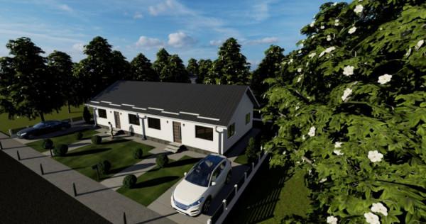 Duplex 3 camere, parter cu pod locuibil si 250 mp curte-Magu
