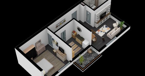 Titan - Bloc nou, apartament cu 2 camere Tip D