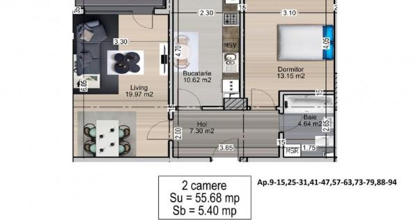 Apartament 2 camere - Mihai Bravu